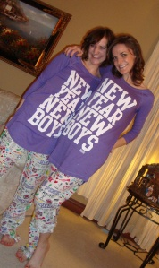 My sis & me on Christmas Eve in our PINK jammies!