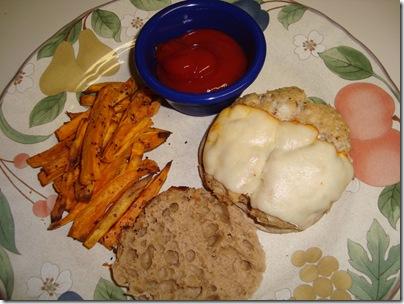 Tuna Burger & SP fries 014