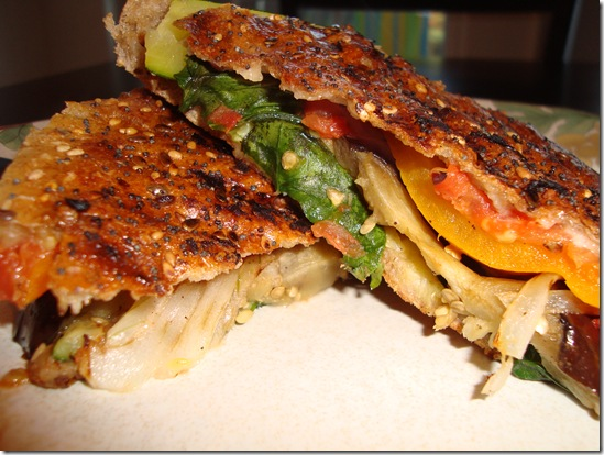 Grilled Vegetable Panini 024