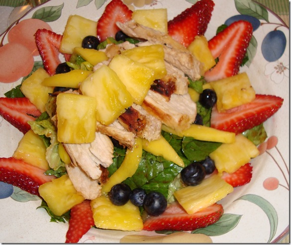 Spicy Chicken & Fruit Salad 001