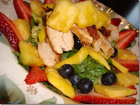 Spicy Chicken & Fruit Salad 002
