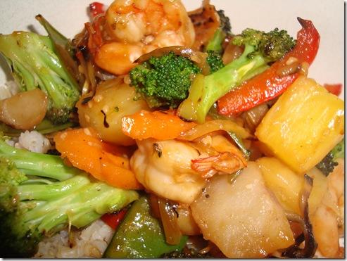 Spicy Pineapple Shrimp Stir Fry 003