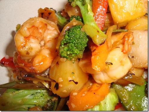 Spicy Pineapple Shrimp Stir Fry 004