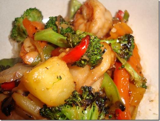 Spicy Pineapple Shrimp Stir Fry 005