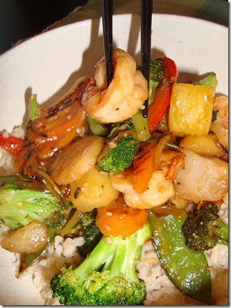 Spicy Pineapple Shrimp Stir Fry 006
