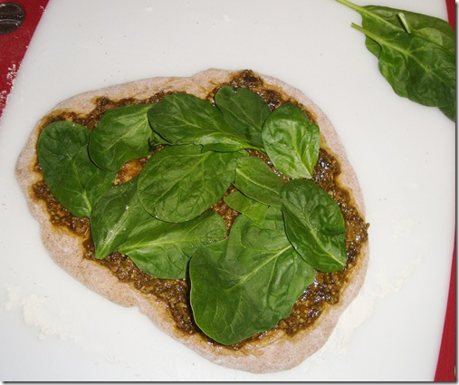 Spinach Artichoke Pizza 019