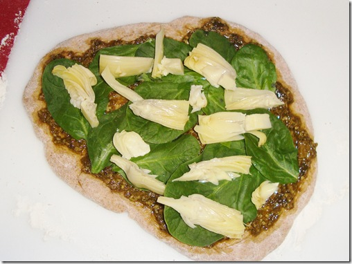 Spinach Artichoke Pizza 020