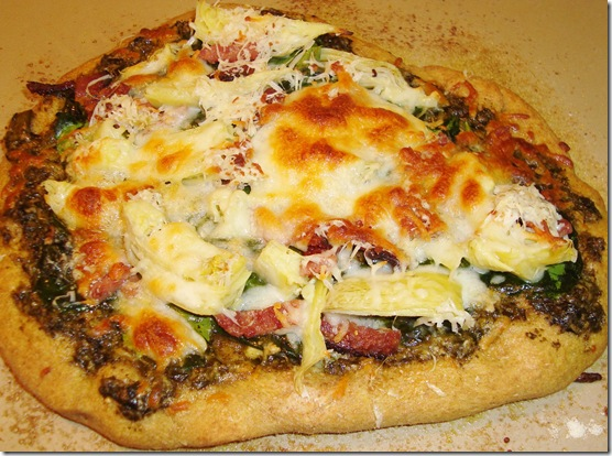 Spinach Artichoke Pizza 028