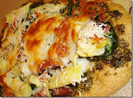 Spinach Artichoke Pizza 029