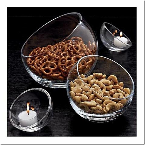 tilted bowls