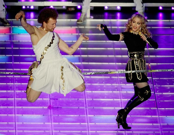 Madonna Halftime Show Tightrope