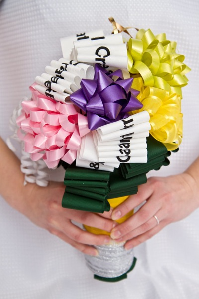 I love the bow bouquets too What a sweet keepsake of your wedding