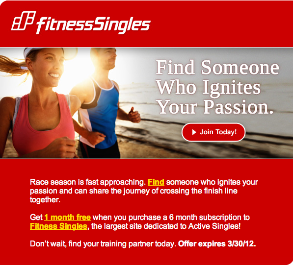 Dating website for fit singles
