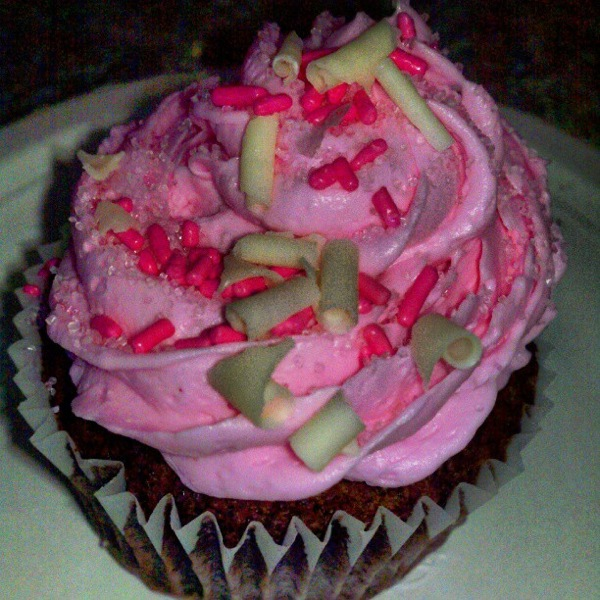 Breast cancer cupcake