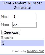 giveaway number